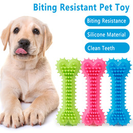 puppy teeth cleaning UK - Dog Chew Toys Pet Molar Tooth Cleaner Brushing Stick Dog Toothbrush Doggy Puppy Dental Care Dog Toy Pet Supplies Bone Toy