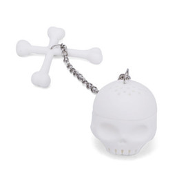 Life Gel Australia - Mini Skull Teas Maker With Chain Silica Gel Tea Infuser Bardian Lazy Supplies Home Life Creative Heat Resisting 5 8ysC1