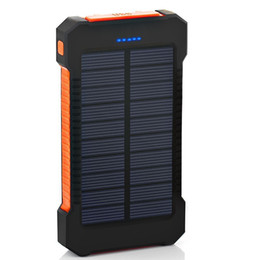 New Top Solar Power Bank 4000mAh impermeável para Xiaomi Smartphone com carregador solar LED portas USB powerbank para Iphone 8 X