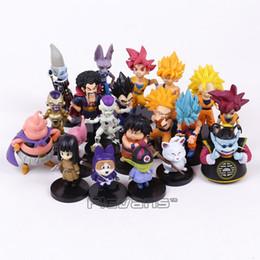 Buu Figure Australia - Dragon Ball Z PVC Figures Toys 20pcs set Son Goku Vetega Majin Buu Freeza Beerus Whis Mark Karin Gotenks