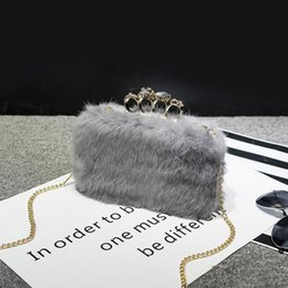 extra hair NZ - Decent2019 Tide Winter Baby Bag Woman Mini- Rabbit's Hair Lovely Joker Packet Lint Leather And Fur Diagonal
