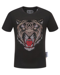 casual products NZ - 2019 PP Mens Summer product Designer Luxury Shirts Fashion Short Sleeve T Shirt Clothing Casual Tiger Head Letter print Hip Hop style