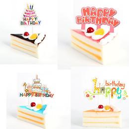 $enCountryForm.capitalKeyWord Australia - Fashion 8pcs Happy Birthday Cartoon Animal Cupcake Toppers Picks Party Decoration Favors New Fashion Cupcake Toppers