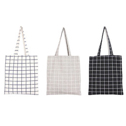 Patchwork Plaid Handbags Australia - Cheap Fashion Female Canvas Beach Bag Plaid Casual Tote Women Canvas Handbag Daily Use Single Shoulder Bags