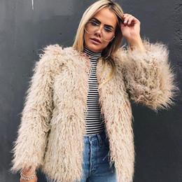 Faux Fur lining womens winter online shopping - Womens Fashion Teddy Bear Coat Fashion Female Long Sleeve Coat Winter Lady Faux Fur Jacket Outerwear
