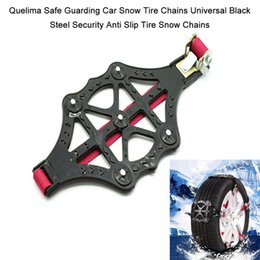 Discount security chain - 2018 Safe Guarding Car Snow Tire Chains Universal Black Steel Security Anti Slip Tire Snow Chains