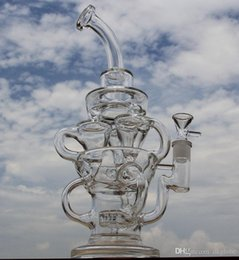 Vortex Pipes Australia - FTK style big size bong new design hollow out glass recycler glass bong brand water pipe with tyre perc amazing vortex