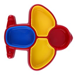 $enCountryForm.capitalKeyWord NZ - Baby Feeding Eating Cute Airplane Shaped Baby Dishes Bright Colors Tableware Cute Dishes Infant Eating Bowl FCI#