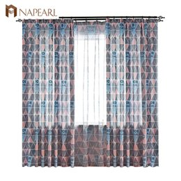 $enCountryForm.capitalKeyWord NZ - NAPEARL 1 Piece Thread Words Design Curtains for Bedroom Windows Elegant Modern Style Draperies Customize Kids Fabric Tulle Drop
