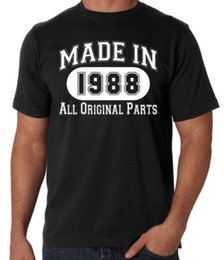 Birthday Party T Shirts Australia - 30th Birthday Made In 1988 Original Parts Funny Present Party Mens Black T Shirt