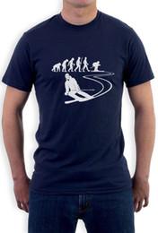 9139889e Gift for SKI Lovers - Evolution of Ski - Skier Cool T-Shirt Skiing Apparel