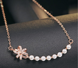 Pendant Jewelery Australia - bowknot necklaces woman jewelery s925 silver pearl pendants cross chains fashion gentlewoman cute princess sweet girls factory price new 6pc