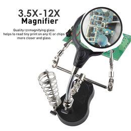 hand bracket 2019 - Soldering Iron Tool Lens Auxiliary Clip Black Magnifier Bracket Clamp Desk Lamp Hand Durable Zinc Alloy Desktop Light To