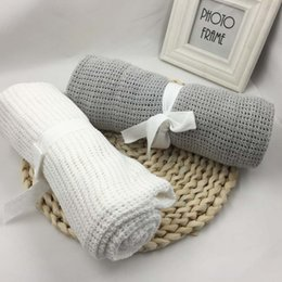 cotton crochet baby blanket NZ - Hollow Out Thread Blanket Holey Cotton Blankets for Baby Throw Blanket Air-conditioned Room Tippet for Women 75*100 cm