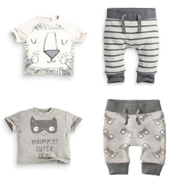 cute casual spring outfits NZ - Outfit Children clothes Little boy tracksuit fashion Autumn Winter Cute Clothing Set Sweetsets Hot Sale