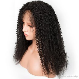 China FreePart Full Lace Human Hair Wigs With Baby Hair 9A Natural Hairline Afro Kinky Curly Brazilian Virgin Lace Front Wigs For Black Women cheap afro kinky lace wigs suppliers