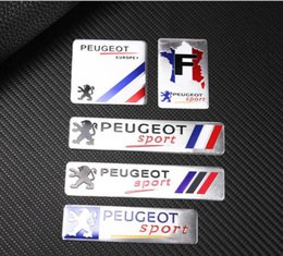 Wholesale 2019 Fashion France National Flag Badge Thin Aluminium Labelling Emblem Sticker Car Styling for Peugeot Sport