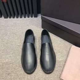 Wholesale New men loafers Leather shoes zy07 Matte woven cowhide Contracted and recreational flat bottom male shoe Living at home outdoor use