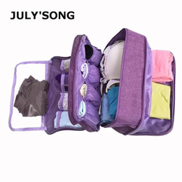$enCountryForm.capitalKeyWord Australia - JULY'S SONG Waterproof Dividers Underwear Bra Socks Organizer Bag Large Capacity Travel Bag Portable Travel Duffle
