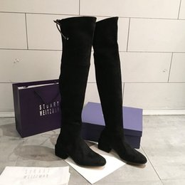 $enCountryForm.capitalKeyWord Australia - HOT New Shoes Women Boots Black Over The Knee Sexy Female Autumn Winter Lady Thigh High korean style Tops n0720