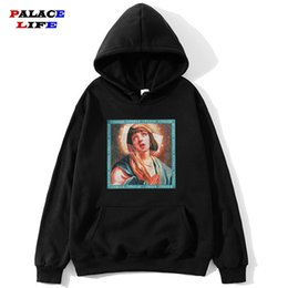 Wholesale funny hoodies sale for sale – custom Hot Sale Virgin Mary Print Men s Hoodie Funny Streetwear Men women Autumn Hip Hop Casual Hoodies Sweatshirts Pullovers Tops