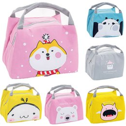 cool style hats UK - Cute Girl Ladies Girls Kids Portable Insulated Lunch Bag Box Picnic Tote Cooler Lunch Box Bags School Lunch Bags Dropshipping