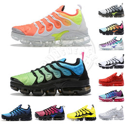 Running shoe size 13 online shopping - Big Size Us Tn Plus Running Shoes Reverse Sunset All White Black Red Mens Trainers Luxury Violet Designer Men Sports Sneakers Eur