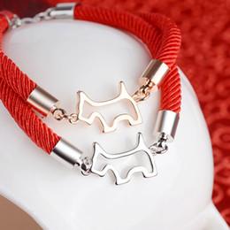 $enCountryForm.capitalKeyWord Australia - New Year Gifts Jewelery Wristband Jewelry Zodiac Signs Animal Dog Charms A Bracelet Women's Cuff Bracelets For Women