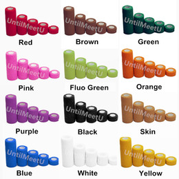 China 50mm Tattoo Grip Tape Covers Self Adhesive Elastic Flexible Nonwoven Cohesive Wrap Nail Sport Protection Bandages Tattoo Accesories 12 Rolls cheap elastic tape sport suppliers