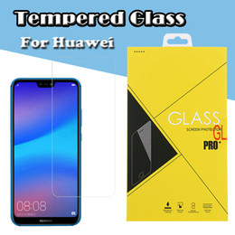 anti shock film NZ - 9H Premium Clear Tempered Glass Screen Protector Film Guard For Huawei Y9 Y7 Y6 Pro Y5 Prime P Smart Plus Enjoy 9E 9S Anti-shock Have Box