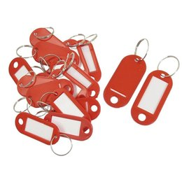$enCountryForm.capitalKeyWord Australia - 20 Pcs Assorted Key ID Label Tags Split Ring Keyring Keychain (Red).