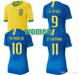 d88230e83 Women's Jersey Colombia Mexico Brazil ladies football uniform 19 20 home  away Jersey 19Women's Wo rld Cup Football Jersey