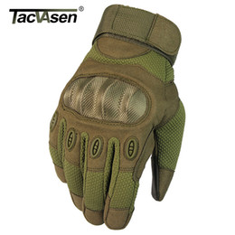 brown motorcycle gloves men NZ - TACVASEN Gloves Men Full Finger Army Tactical Gloves Rip-stop Motorcycle Biker Breathable Mittens