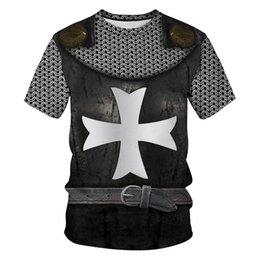 China Cross Armor Funny T Shirt 3d Print Men Women Summer T-shirts Short Sleeve Casual Brand Clothing Plus Size Tee Tops cheap cross top shirt suppliers