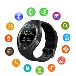 Bluetooth Smart Watch Sim Australia - Bluetooth Smartwatch Y1 Smart Watch Support Reloj Relogios 2G GSM SIM App Sync Mp3 For Apple iPhone Xiaomi Android Phones Black