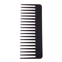 $enCountryForm.capitalKeyWord Australia - Black High Quality ABS Plastic Heat-resistant Large Wide Tooth Comb Wavy Hair Styling Hair Care Tools Salon