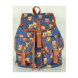 $enCountryForm.capitalKeyWord UK - Wholesale- 2017 New Fashion Women Bag Casual Oversized Printing Owl Backpack Student School bags bag Female Backpack