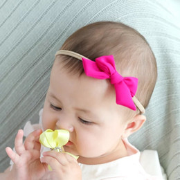 Headbands Bow Australia - Quality Free DHL Multiple Designing Baby Hair Accessories Girls Hair Bows High Elastic Linen Cotton Strips Hairbandst Infant Headbands