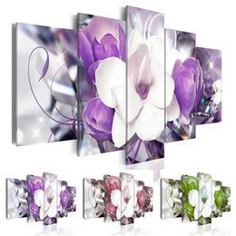 $enCountryForm.capitalKeyWord Australia - (Unframed, Only Print) Canvas Print Modern Abstract Flower Floral Orchid Painting Home Decoration Gift for Love, Choose Color & Size