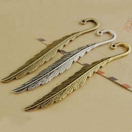 $enCountryForm.capitalKeyWord Australia - 80*13MM Small bronze feather hair sticks, DIY jewelry accessories wholesale tibetan ancient silver brass copper alloy bookmark