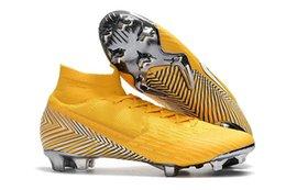 Venta al por mayor de Zapatillas de fútbol para hombre 2019 Furia CR7 Vapores mercuriales XII VII Elite FG Tacos de fútbol Botas de fútbol para exteriores Mercurial Superfly VI 360 Elite FG