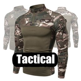 $enCountryForm.capitalKeyWord Australia - Camouflage Tactical T Shirt Long Sleeve Ranger Army Combat Shirt Paintball Hunting War Game Clothing Men