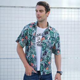 Polyester Short Sleeve Shirts Men Australia - WOMAIL 2019 Polyester Material Short Sleeve Summer Men Casual Shirt Comfortable Printed Design Fashion Men Blouse 19MAY20