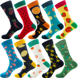 banana box wholesale NZ - New Women Socks Funny Cute Cartoon Fruits Banana Avocado Lemon Egg Cookie Donuts Food Happy Socks Skateboard Socks Winter Stockings N35Y