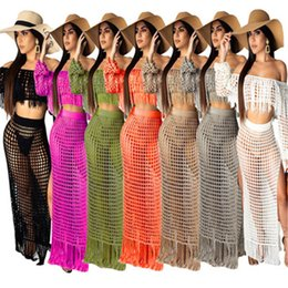 Gray Mid Length Dress Australia - Women summer beachwear two-piece dress sexy fashion split playsuits comfortable strapless skirts cover-ups plus size women clothing S-3XL