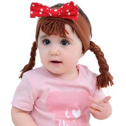 Cotton Braiding Australia - Wholesale Newest Children's Hair Bow Baby Girl Braid Headband Pure Cotton Girl Headdress Hairband Kids Cute Hair Accessories