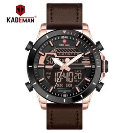 $enCountryForm.capitalKeyWord Australia - KADEMAN New Sport Men Watch Luxury Waterproof Wristwatch TOP Brand Quality Dual Display Digital Watch Relogio Masculino