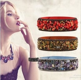 Coral Beads China Australia - New Love Indian Bangles For Women 18kgp Gold Overlay Cuff Bracelets Fashion Bohemian Femme Pulseiras Jewelrys 3 Colors