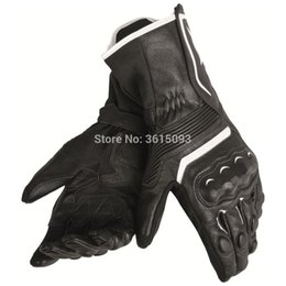Free Finger Bikes Australia - Free shipping 2019 Dain Assen Leather Glove Black White Motorcycle Bike Motorbike Riding Curved Fingers Gloves Racing Glove