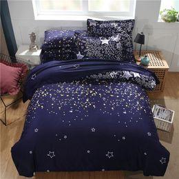 Yellow Blue Bedding Australia - Blue Star Bedding Sets Single Double Twin Queen 2pcs 3pcs Bedclothes Bed Linen Duvet Cover Set No Sheet No Filling